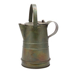 Weathered Metal Decorative Pitcher