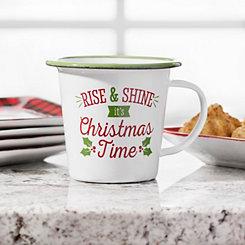 Rise & Shine Christmas Enamel Mug