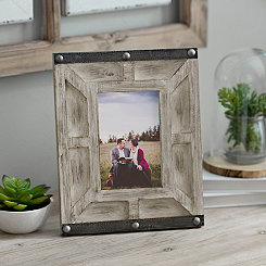 Grayson Whitewashed Wooden Picture Frame, 4x6