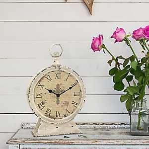 Faith Round Tabletop Clock