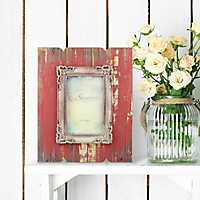 Weathered Red Wood Picture Frame, 4x6