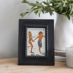 Black Rope Rustic Tabletop Picture Frame, 4x6