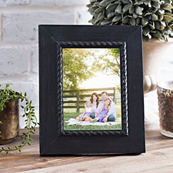 Black Rope Rustic Tabletop Picture Frame, 5x7