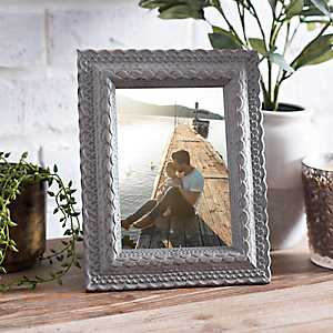 Sage Carved Table Picture Frame, 5x7