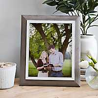 White and Gray Woodtone Picture Frame, 8x10
