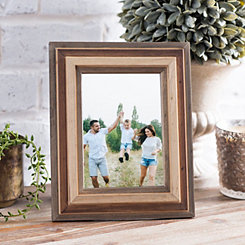 Tri-Colored Wood Tabletop Picture Frame, 5x7