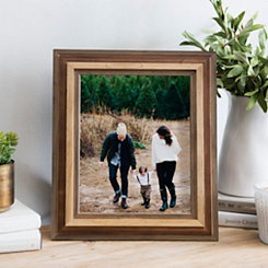 Tri-Color Wood Table Picture Frame, 8x10