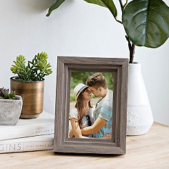 3D Wood Ridge Tabletop Picture Frame, 4x6