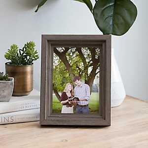 3D Wood Ridge Tabletop Picture Frame, 5x7
