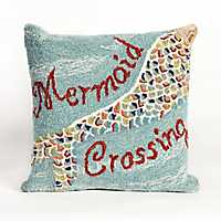 Mermaid Crossing Outdoor Pillow