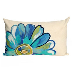 Blue Sunflower Indoor/Outdoor Accent Pillow