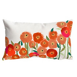 Red Modern Bloom Outdoor Accent Pillow
