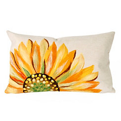 Yellow Sunflower Indoor/Outdoor Accent Pillow