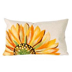 Yellow Sunflower Indoor/Outdoor Accent Pillow