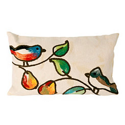 Musical Birds Indoor/Outdoor Accent Pillow