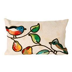 Musical Birds Indoor/Outdoor Accent Pillow