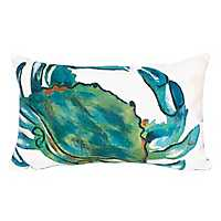 Blue Crab Indoor/Outdoor Accent Pillow