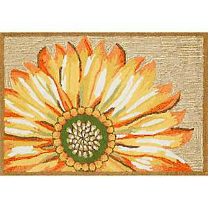 Yellow Sunflower Indoor/Outdoor Rug