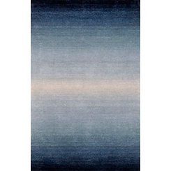 Blue and Ivory Harper Ombre Area Rug