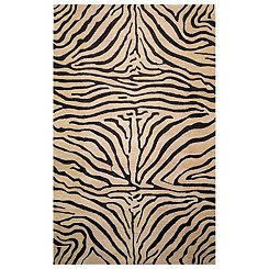 Tan Zebra Print Area Rug