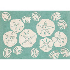 Aqua Sand Dollar Indoor/Outdoor Mat