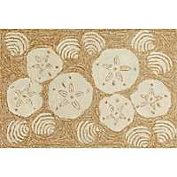 Natural Sand Dollar Outdoor Mat