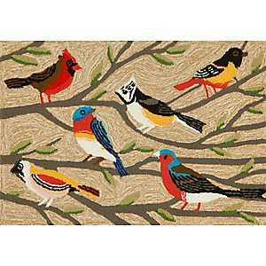Bright Birds Indoor/Outdoor Mat