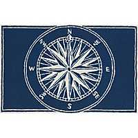 Navy Compass Indoor/Outdoor Mat