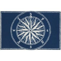Navy Compass Indoor/Outdoor Mat