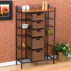 Allison 5-Drawer Bakers Rack