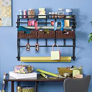 Saper Craft Storage Wall Rack with Baskets