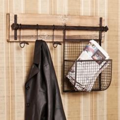 Bitner Wall Hook with Basket