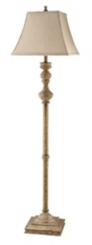Graywash Faux Wood Floor Lamp