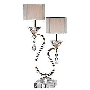 Crystal Accent Double Table Lamp