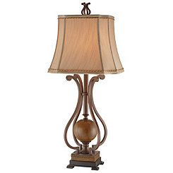 Iron Scroll Table Lamp