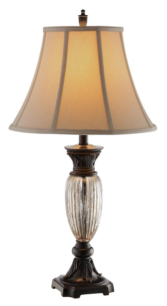 Ribbed Crackle Glass Table Lamp. Mouse Over To Zoom