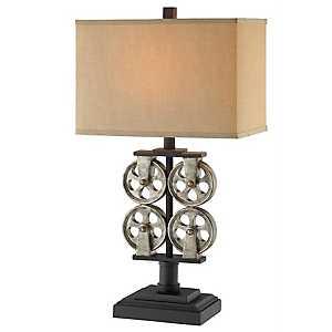 Industrial Metal Reel Table Lamp