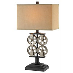 Industrial Metal Reel Table Lamp