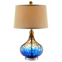 Cobalt Blue Glass Table Lamp