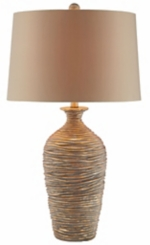 Antique Gold Ceramic Table Lamp