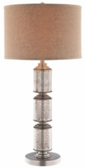 Stacked Cylinder Mercury Glass Table Lamp