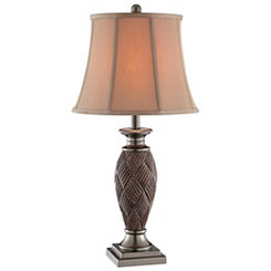 Brown Basket Weave Table Lamp