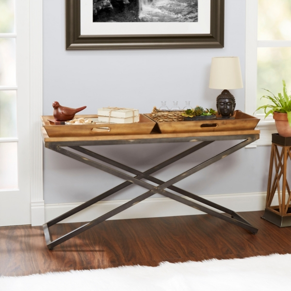 Jacob Industrial Console Table; Mason Industrial Console Table ...