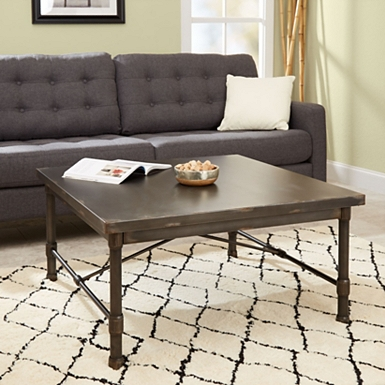 living room coffee table set. Hugo Industrial Square Coffee Table Tables  Kirklands