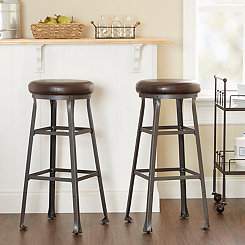 Logan Industrial Bar Stools, Set of 2