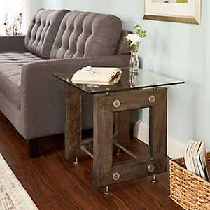 Ryan Industrial Accent Table