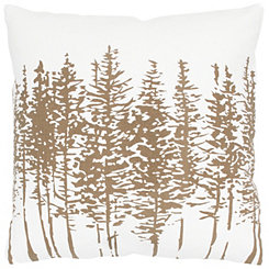 Rose Gold Pine Tree Print Pillow