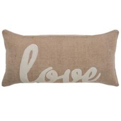 Love Jute Accent Pillow