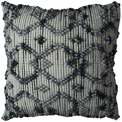 Intertwined Diamond Wool Pillow