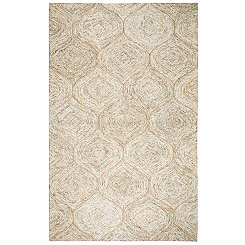 Brown and Ivory Space Dyed Area Rug, 8x10